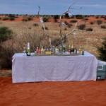 aperitivo sulle dune del kalahari