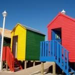 cabine sulla spiaggia simons town