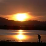 kysna lagoon tramonto