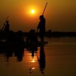 mokoro kavango river tramonto